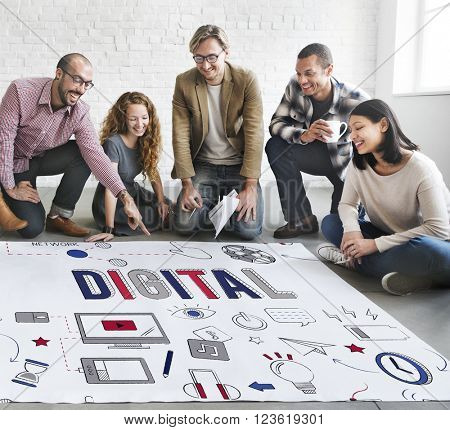 Digital Online Technology Innovation Electronics Concept
