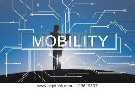 Mobility Mobile Contemporary Connection Concept