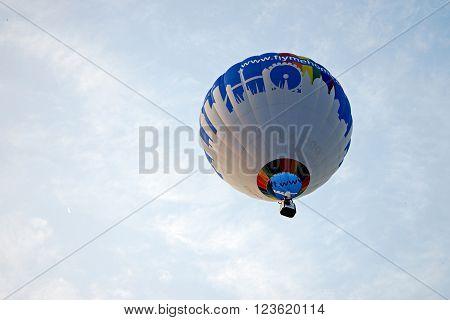 A Hot Air Balloon Flying
