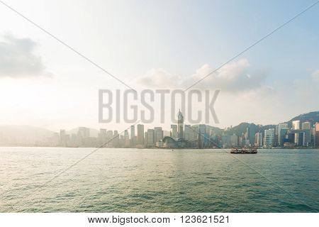 Scene Of Hong Kong City