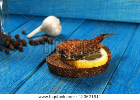Sandwich With Fried Fish