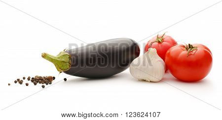 Vegetable Set Of Tomatoes, Pepper And Eggplants