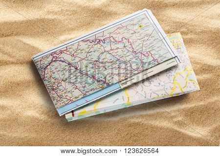 Road Map On Sand