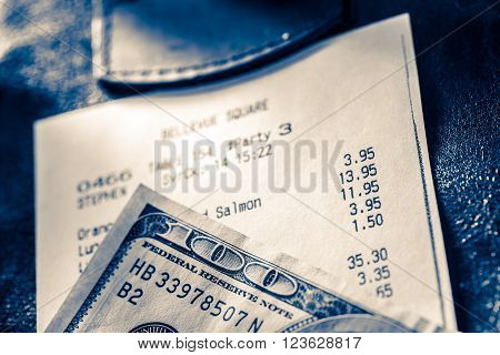 Cafe Paper Cheque With Dollars