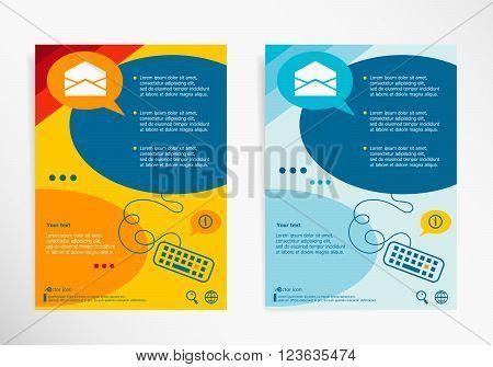 Open Envelope Icon On Chat Speech Bubbles