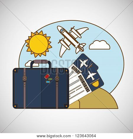 Travel concept with icon design, vector illustration 10 eps graphic