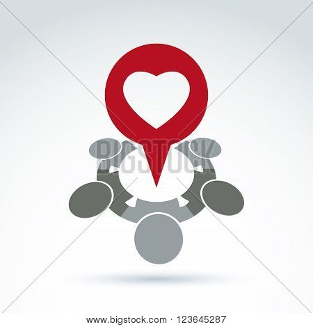 Dialogue on love and health - social forum on medical and cardiology theme. Conceptual Valentine's Day sign heart shape. Chat on family relationship idea.