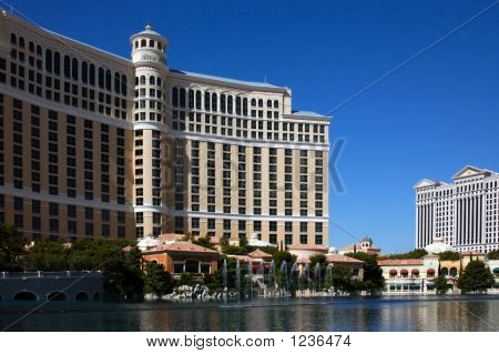 The Bellagio And Caesar'S Palace Hotels, Las Vegas, Nevada.