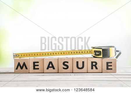 Cubes With The Word Measure