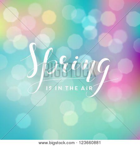 Spring blur background illustration