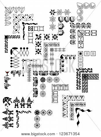 30 black and white borders for special events