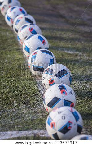 Official Match Balls Of The Uefa Euro 2016 (adidas Beau Jeu)