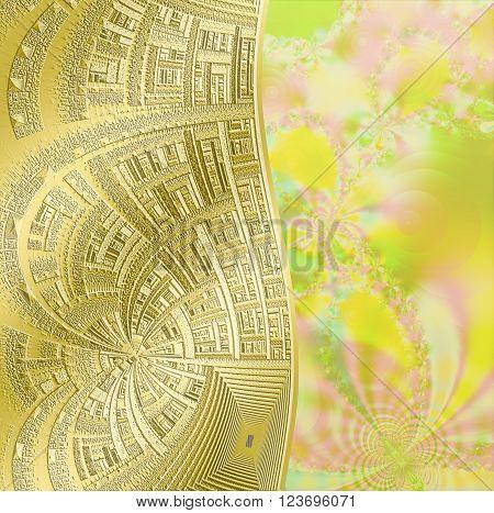 l fractal floral pattern digital artwork for creative graphic design