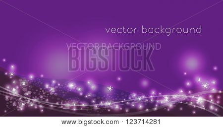 Vector constellation flow in space. Stock background of star wave for design