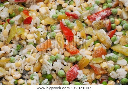 frozen rice with vegetables