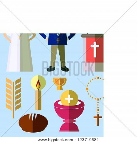 Set of design elements for First Communion