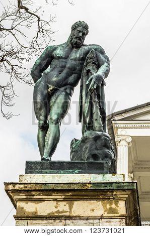 Heracles Statue of Cameron Gallery in Catharine Park in Tsarskoye Selo (Pushkin) Russia