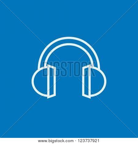 Headphone line icon.