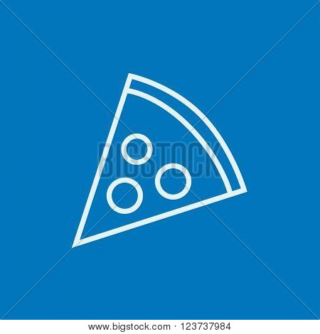 Pizza slice line icon.