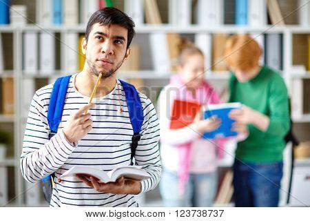 Pensive student