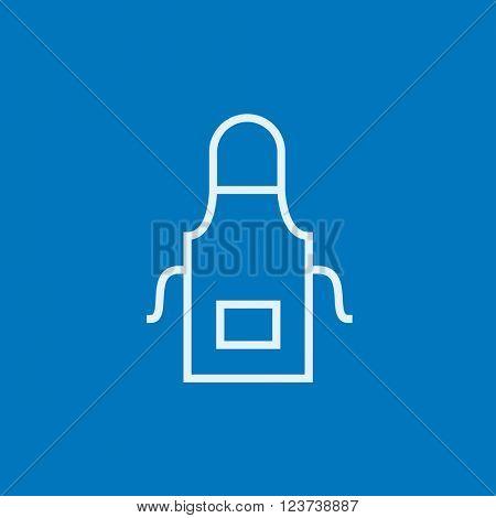Kitchen apron line icon.