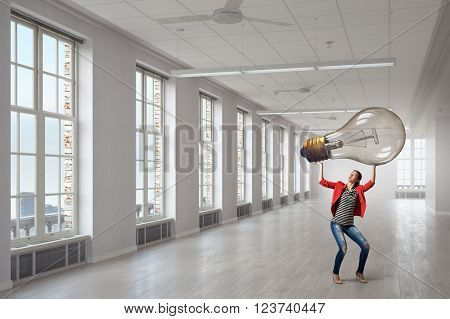 Woman in office room