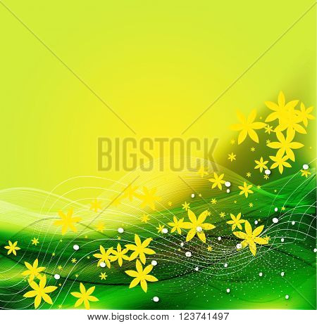 Spring background with lighting effect.