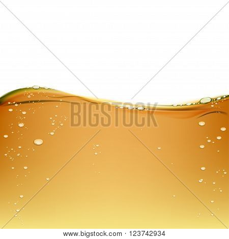 Background olive oil isolated on a white background. Engine oil for lubrication. Texture of alcoholic beverage with bubbles. Stock vector illustration.