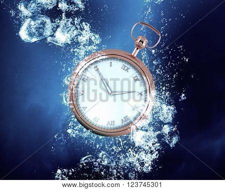 Pocket Watch in water
