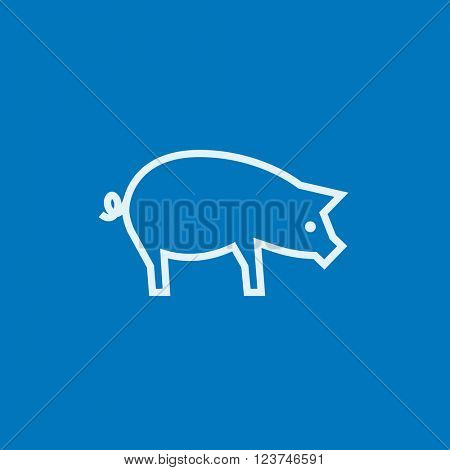 Pig line icon.