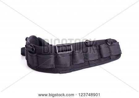 Black Belt For Photographer Isolated On White