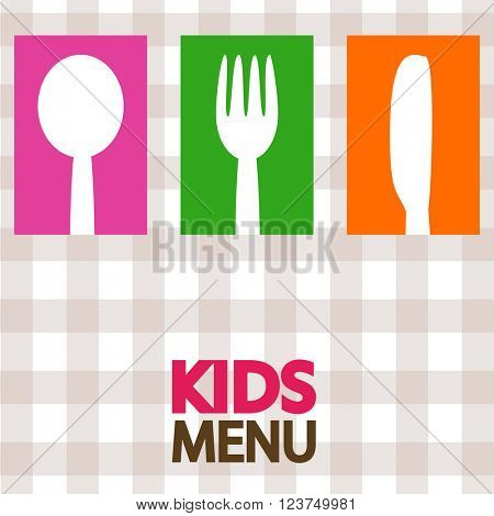 kids menu background design illustration