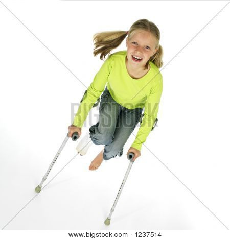 Girl Wit A Broken Leg