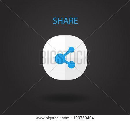 Modern smartphone application icon. Vector flat design illustration