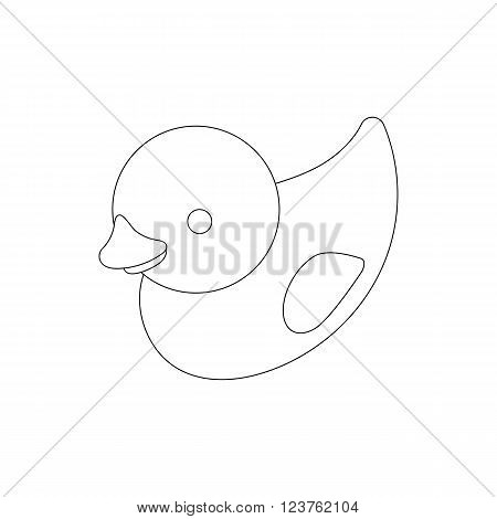 Duckling toy icon in isometric 3d style isolated on white background