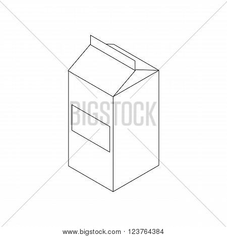 Milk icon in isometric 3d style isolated on white background