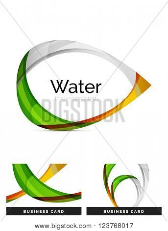 Abstract geometric water drop design - logo icon or background