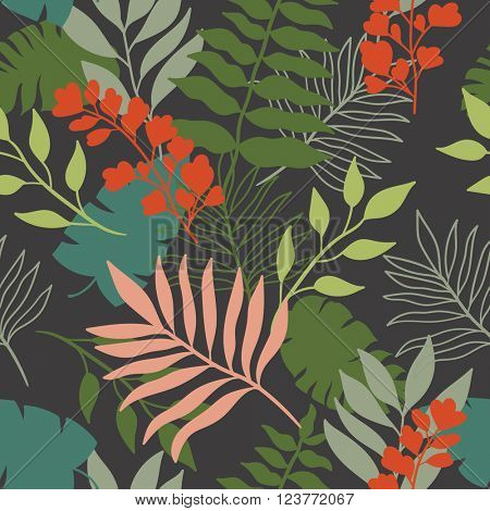 Beautiful seamless floral  pattern background.