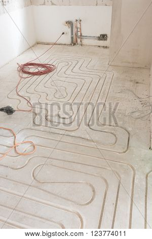 renovation of an appartment with new underfloor heating