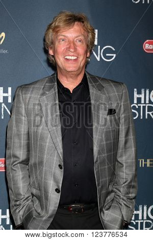 LOS ANGELES - MAR 29:  Nigel Lythgoe at the High Strung Premeire at the TCL Chinese 6 Theaters on March 29, 2016 in Los Angeles, CA