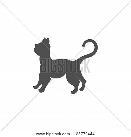 Cat logo vector illustration isolated on white background