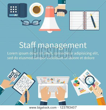 Staff Management. Management Concept