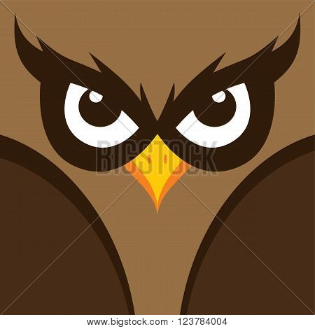 cool spooky owl theme vector graphic illustration