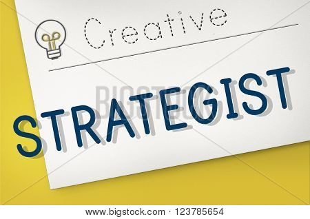 Strategy Strategist Strategic Tactics Vision Concept