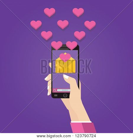 Vector Illustration Of New Romantic Message