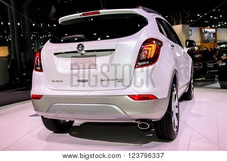 NEW YORK - MArch 23: A Buick Encore at the 2016 New York International Auto Show during Press day,  public show is running from March 25th through April 3, 2016 in New York, NY.