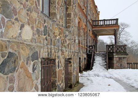 Sigulda, Latvia - March 17, 2012: Neogothic Sigulda New Castle In Latvia