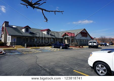 BOLINGBROOK, ILLINOIS / UNITED STATES - MARCH 4, 2016: The Golden Corral offers buffet dining in Bolingbrook.