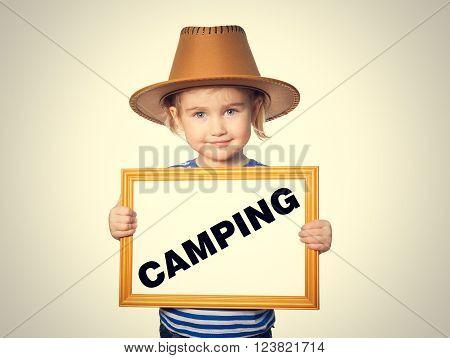 Blackboard. Text Camping.