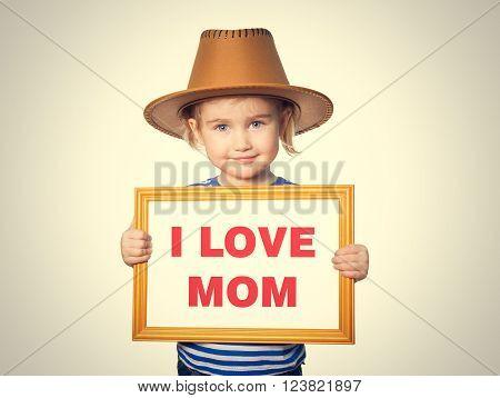 Text I Love Mom.